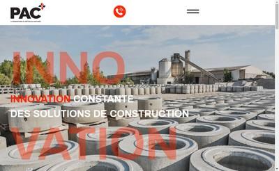 Site internet de Pac Prefabricat Article Ciment