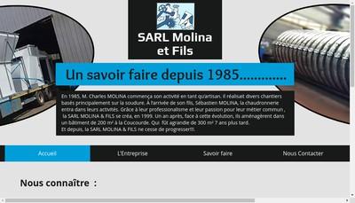 Site internet de SARL Molina