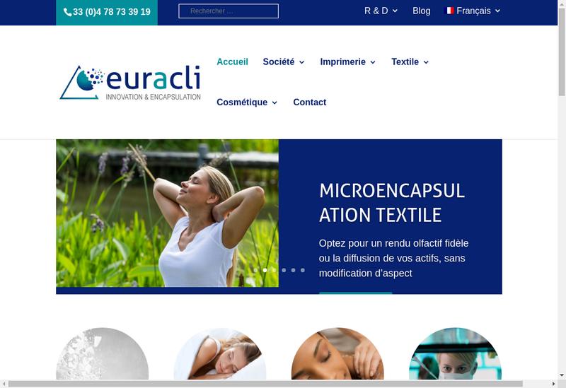 Capture d'écran du site de EuracliFrance