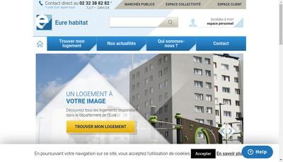 Site internet de Eure Habitat
