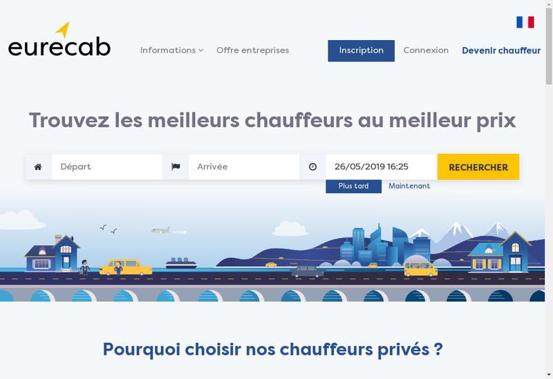 Capture d'écran du site de Eurecab
