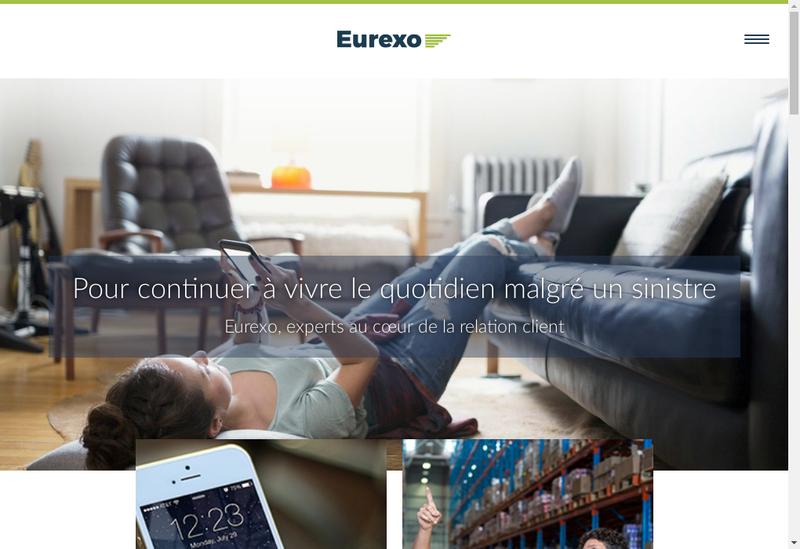 Capture d'écran du site de Eurexo