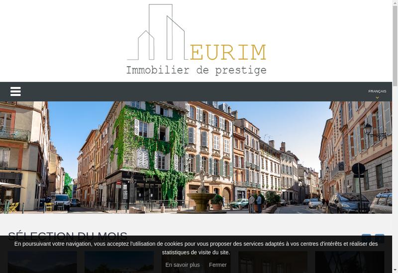 Capture d'écran du site de Eurim