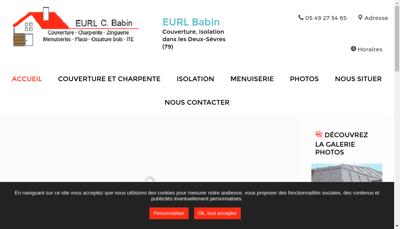 Capture d'écran du site de EURL Babin