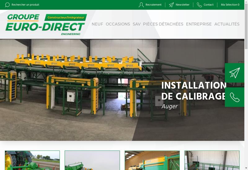 Capture d'écran du site de SARL Euro-Direct