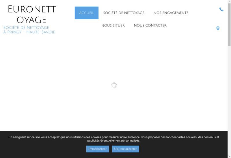 Capture d'écran du site de Euronettoyage