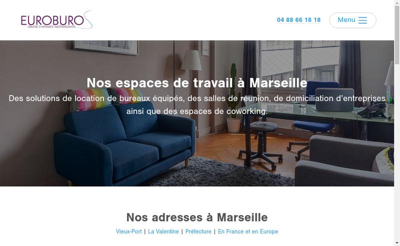 Capture d'écran du site de Euroburos