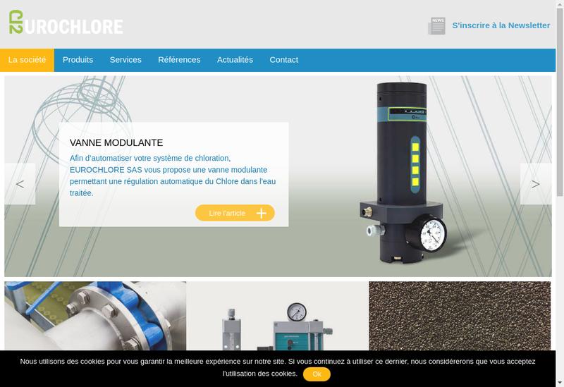 Capture d'écran du site de Eurochlore