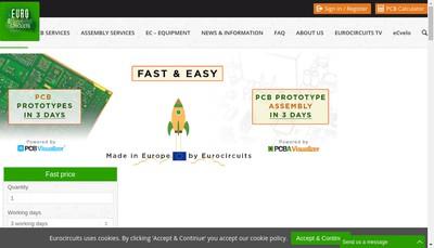 Site internet de Eurocircuits