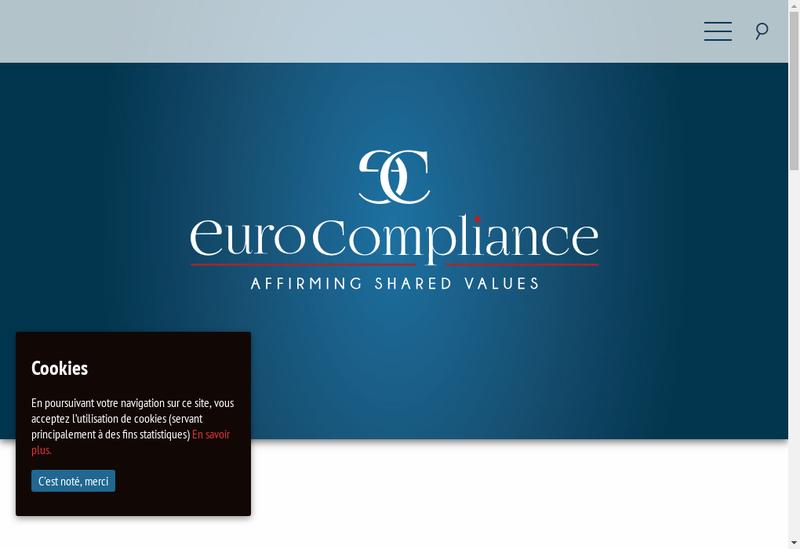 Capture d'écran du site de Eurocompliance