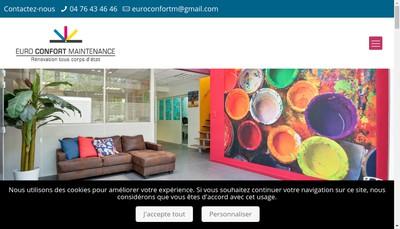 Site internet de Euro Confort Maintenance