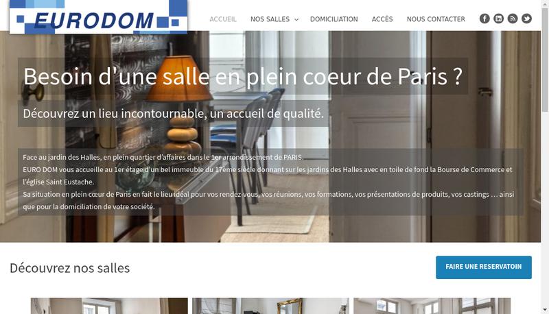 Capture d'écran du site de Euro Dom