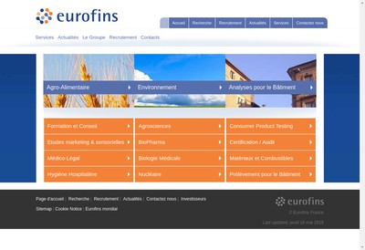 Site internet de Eurofins Ats