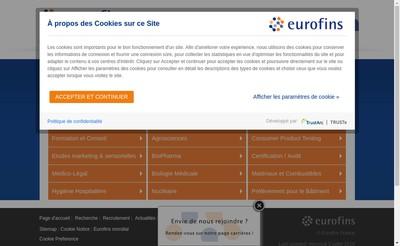 Site internet de Eurofins Marketing Research