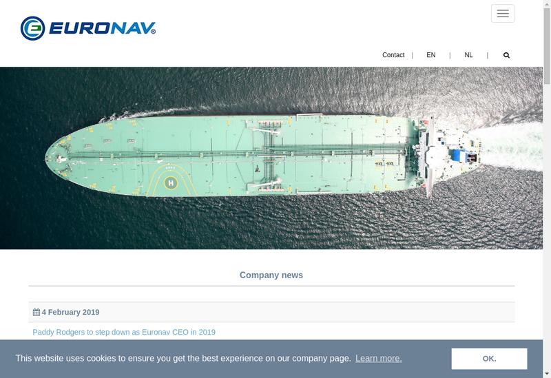 Capture d'écran du site de Euronav