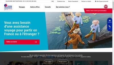 Site internet de Europ Assistance