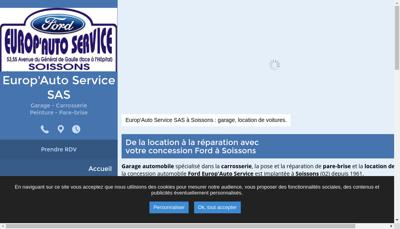 Capture d'écran du site de Europ Auto Service
