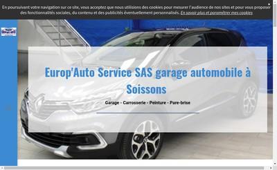 Site internet de Europ Auto Service