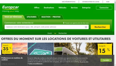 Site internet de Europcar France