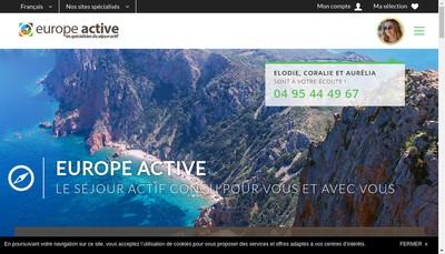 Site internet de Europe Active