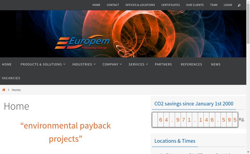 Site internet de Europem