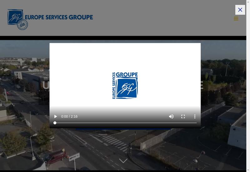 Capture d'écran du site de Europe Services Voirie