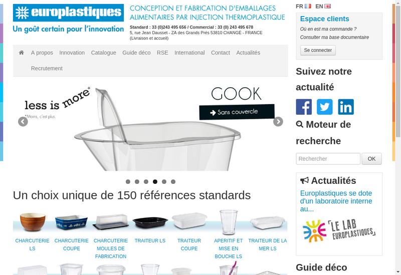 Capture d'écran du site de Europlastiques SA