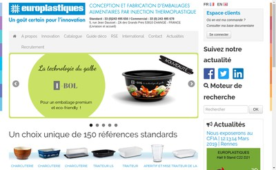 Site internet de Europlastiques SA