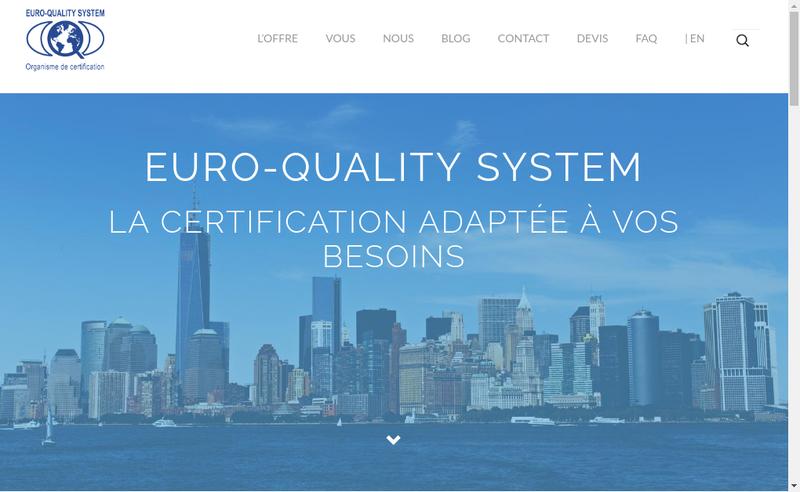 Capture d'écran du site de Euro Quality System France
