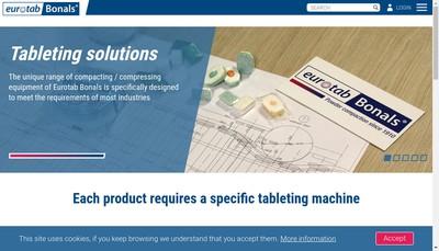 Site internet de Eurotab Technologies