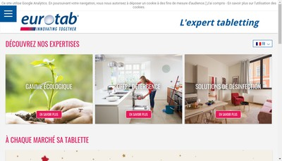 Site internet de Eurotab Operations