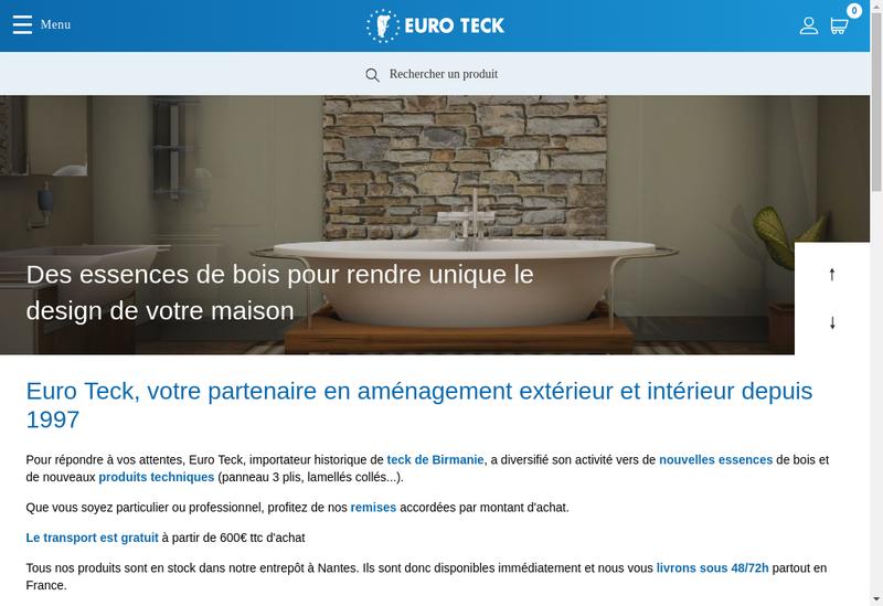 Capture d'écran du site de Euro Teck