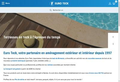 Site internet de Euro Teck