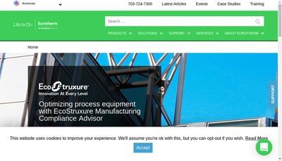 Site internet de Eurotherm Automation