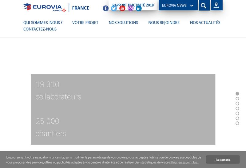Capture d'écran du site de Eurovia Alsace Lorraine