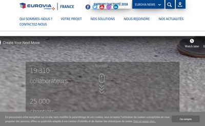 Site internet de Eurovia Haute Normandie