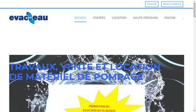 Site internet de Evac Eau