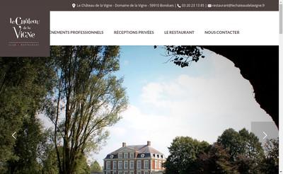 Site internet de Le Chateau de la Vigne Club et Restaurant