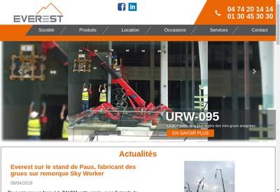 Site internet de Everest