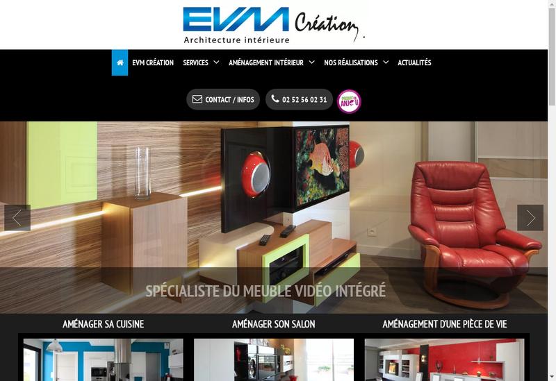Capture d'écran du site de Evm Creation