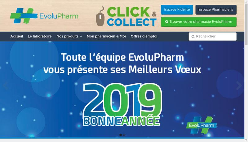 Capture d'écran du site de Evoluplus