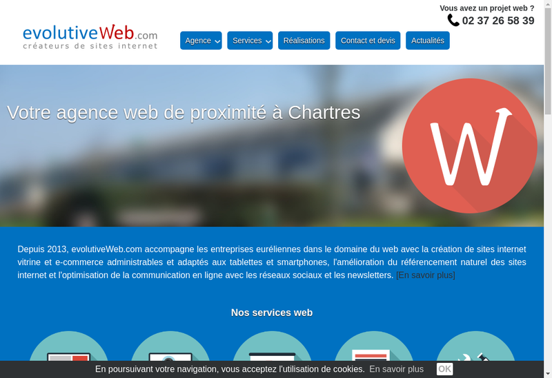 Capture d'écran du site de Evolutiveweb Com
