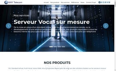 Site internet de Eway Telecom
