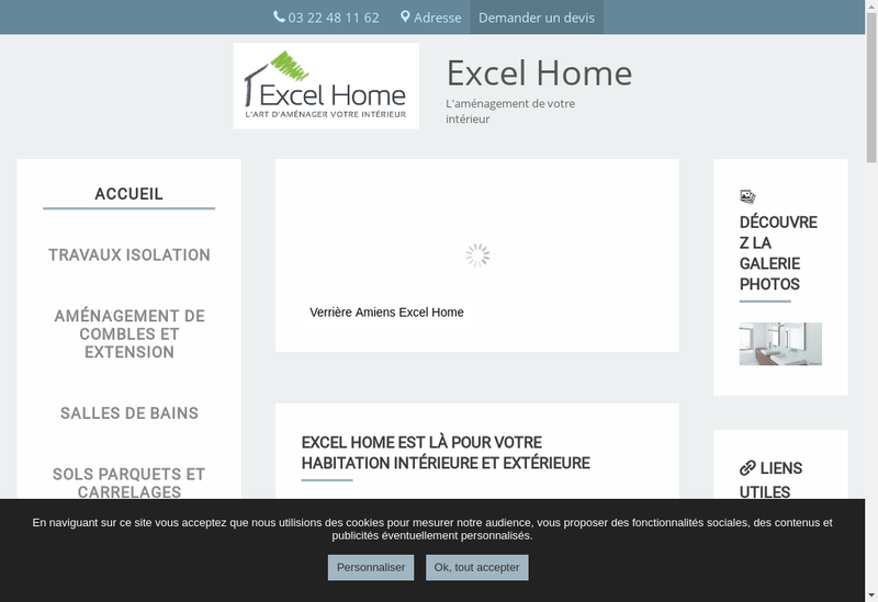 Capture d'écran du site de Excel Home