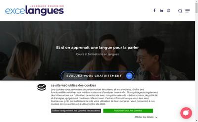 Site internet de Excelangues