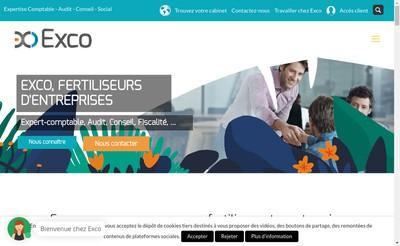 Site internet de Exco Hesio