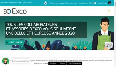 Site internet de Exco Auris