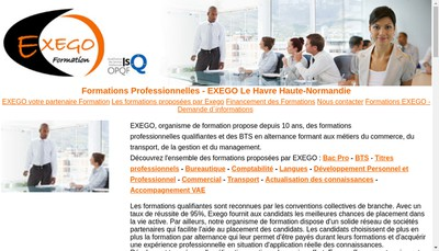 Site internet de Exego