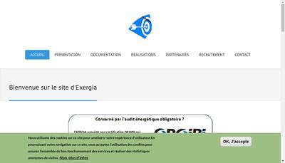 Site internet de Exergia