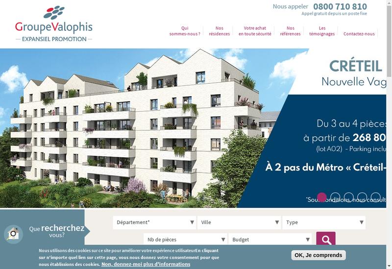 Capture d'écran du site de Expansiel Promotion